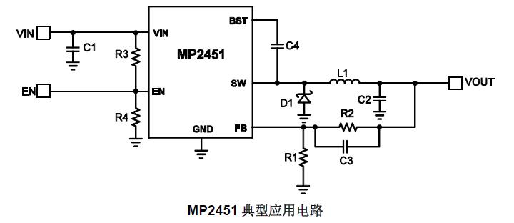 MP2451降压式开关电源实用电路