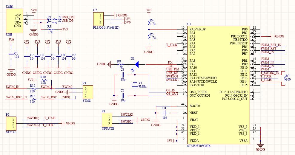 简易ST-Link V2工具DIY